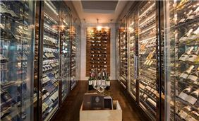 Walk-in wine cellar at French Grill