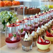 Delicate desserts by JW Cafe