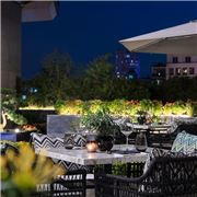 The Terrace - the courtyard of Smack Dab embraces the vibes of ultimate relaxation and comfort