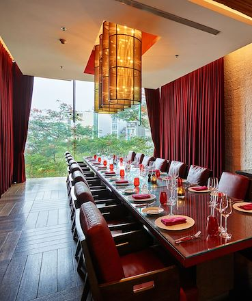 Red private dining room